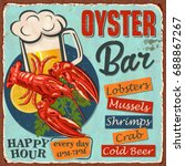 vintage  metal sign with... | Shutterstock .eps vector #688867267