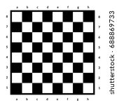 Empty Chessboard Isolated....