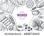 Wines And Gourmet Snacks Frame...