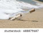 message in a bottle  close up | Shutterstock . vector #688879687