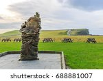photo of a wood statue in the... | Shutterstock . vector #688881007