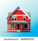 family house  classic style | Shutterstock . vector #688885033