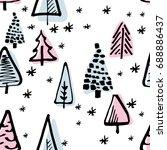 scandinavian seamless pattern...   Shutterstock .eps vector #688886437
