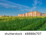 beautiful cityscape  cloudscape ... | Shutterstock . vector #688886707