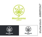 marijuana medical logo | Shutterstock .eps vector #688890367