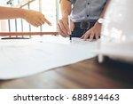 image of engineer or... | Shutterstock . vector #688914463
