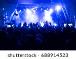 crowd at concert and blurred... | Shutterstock . vector #688914523