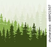 spruce forest in the hills.... | Shutterstock .eps vector #688921507