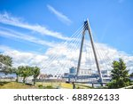 marine way bridge in southport. ... | Shutterstock . vector #688926133