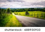 remote rural lane in the... | Shutterstock . vector #688930933