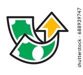 icon illustration for profit... | Shutterstock .eps vector #688939747
