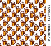 seamless pattern on a beer theme   Shutterstock .eps vector #688940083