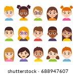 Cartoon Children Avatar Set....