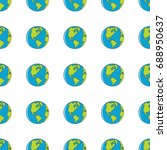 earth seamless pattern in...