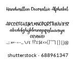 decorative calligraphic...   Shutterstock .eps vector #688961347