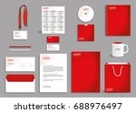 red corporate identity design... | Shutterstock .eps vector #688976497