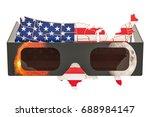 solar eclipse in usa concept ... | Shutterstock . vector #688984147