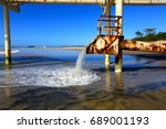 Small photo of The sand bypass system at Letitia Spit in northern NSW Australia