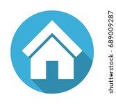 smart home blue icon button....