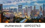 bangkok city sunset and light... | Shutterstock . vector #689010763