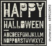 happy halloween decorative... | Shutterstock .eps vector #689013043