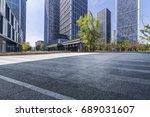 empty floor with modern... | Shutterstock . vector #689031607