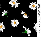seamless background with daisy... | Shutterstock .eps vector #689032747