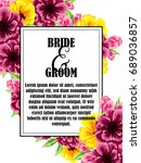 vintage delicate invitation... | Shutterstock .eps vector #689036857