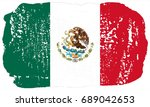 mexico flag grunge background.... | Shutterstock . vector #689042653