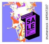 summer sale colorful style... | Shutterstock .eps vector #689047207