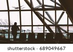 airport terminal ready to board ... | Shutterstock . vector #689049667