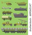 military technic transport... | Shutterstock .eps vector #689065147