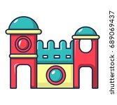 bounce house icon. cartoon... | Shutterstock .eps vector #689069437