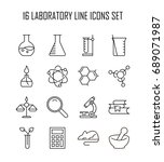 laboratory icon set. collection ... | Shutterstock .eps vector #689071987