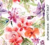 floral seamless pattern....   Shutterstock . vector #689073667
