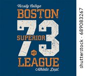 boston superior league   tee... | Shutterstock .eps vector #689083267
