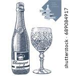 hand drawn vector illustration...   Shutterstock .eps vector #689084917