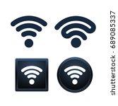 design of wifi icons on white... | Shutterstock .eps vector #689085337