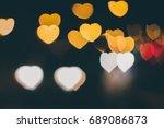 Bokeh Lights  Heart  Love ...