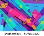 creative abstract concept.... | Shutterstock .eps vector #689088523