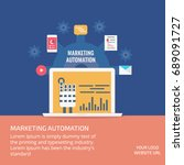 marketing automation  business... | Shutterstock .eps vector #689091727