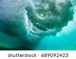 Under Water Wave Crashing On...