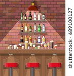 drinking establishment.... | Shutterstock .eps vector #689100127