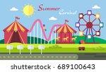 summer carnival background | Shutterstock .eps vector #689100643