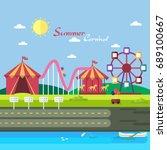 summer carnival background | Shutterstock .eps vector #689100667