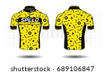 cycle jersey. cycling shirt.... | Shutterstock .eps vector #689106847