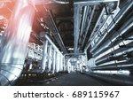 industrial zone  steel... | Shutterstock . vector #689115967