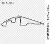 abu dhabi grand prix race track.... | Shutterstock .eps vector #689127817
