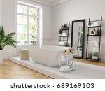 3d rendering. classic luxury... | Shutterstock . vector #689169103