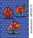 hearts cartoon  abstract vector ...   Shutterstock .eps vector #68918173